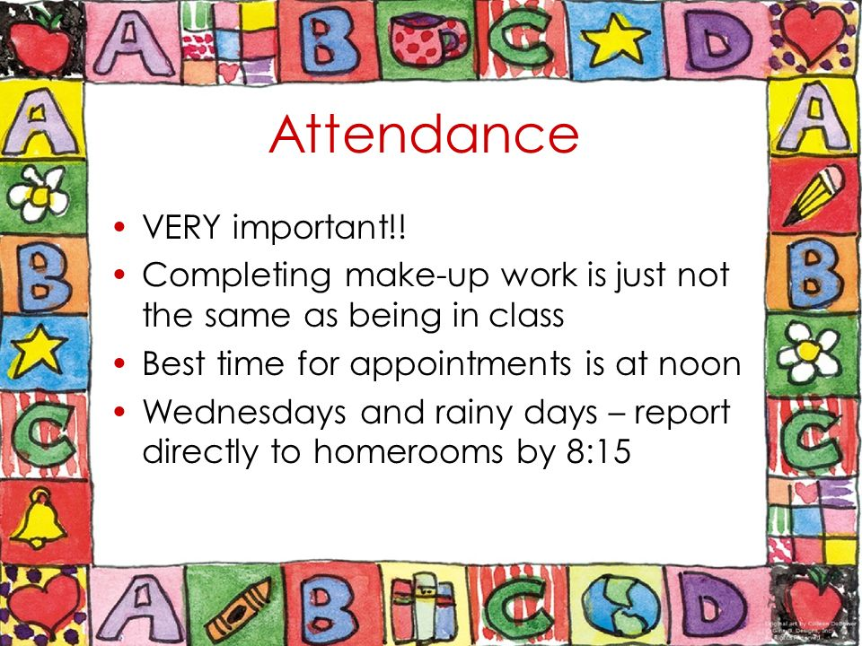 importance of attending classes Attendance policies may be effective at getting students into the classroom, but  may  come to class, their impact on course evaluations, and, most important,  their effect on  this policy effectively increased class attendance.