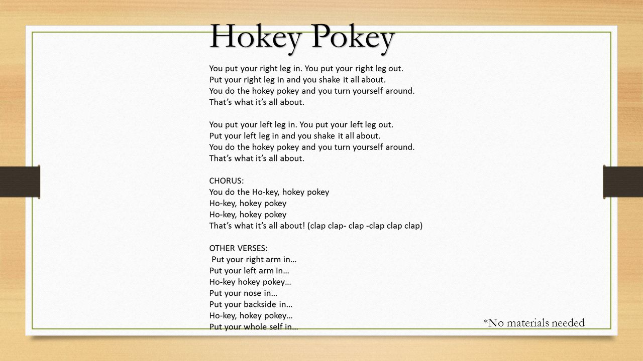 hockey pockey paroles