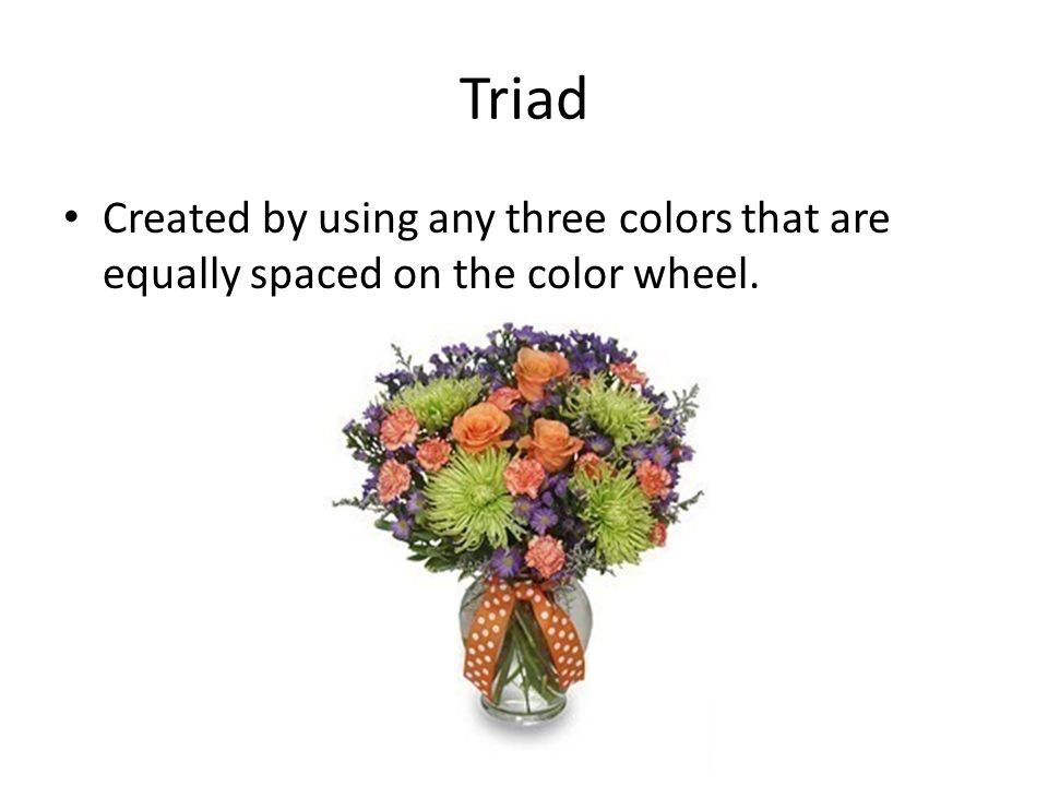 19 Triad Created By Using Any Three Colors That Are Equally Spaced On The Color Wheel