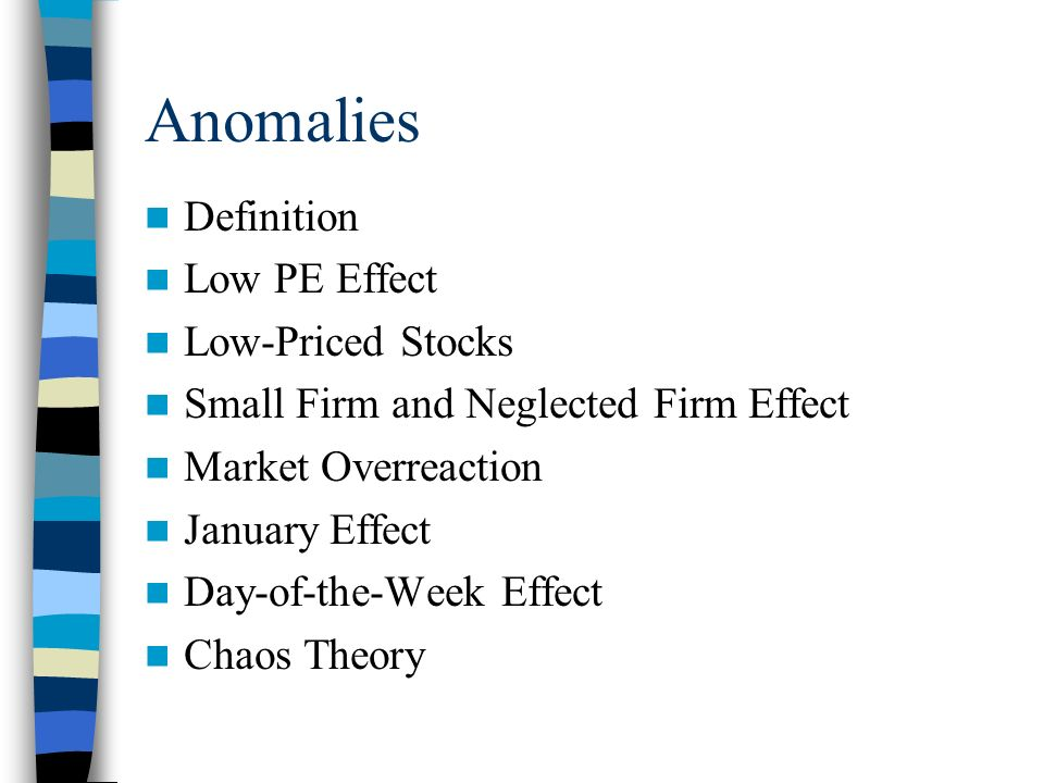 is the small firm january effect an anomaly The small firm effect is a theory that holds that smaller firms, or those companies with a small market capitalization, outperform larger companies the small firm effect is a theory that holds that smaller firms, or the small firm effect market anomaly is a factor used to explain.