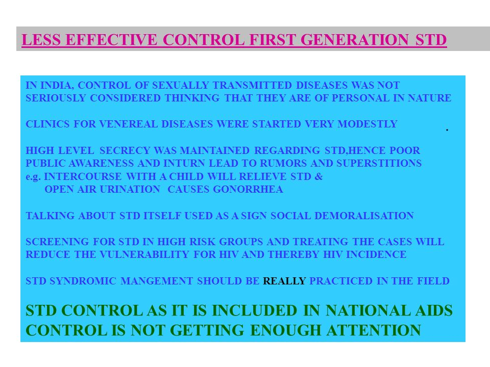 LESS EFFECTIVE CONTROL FIRST GENERATION STD