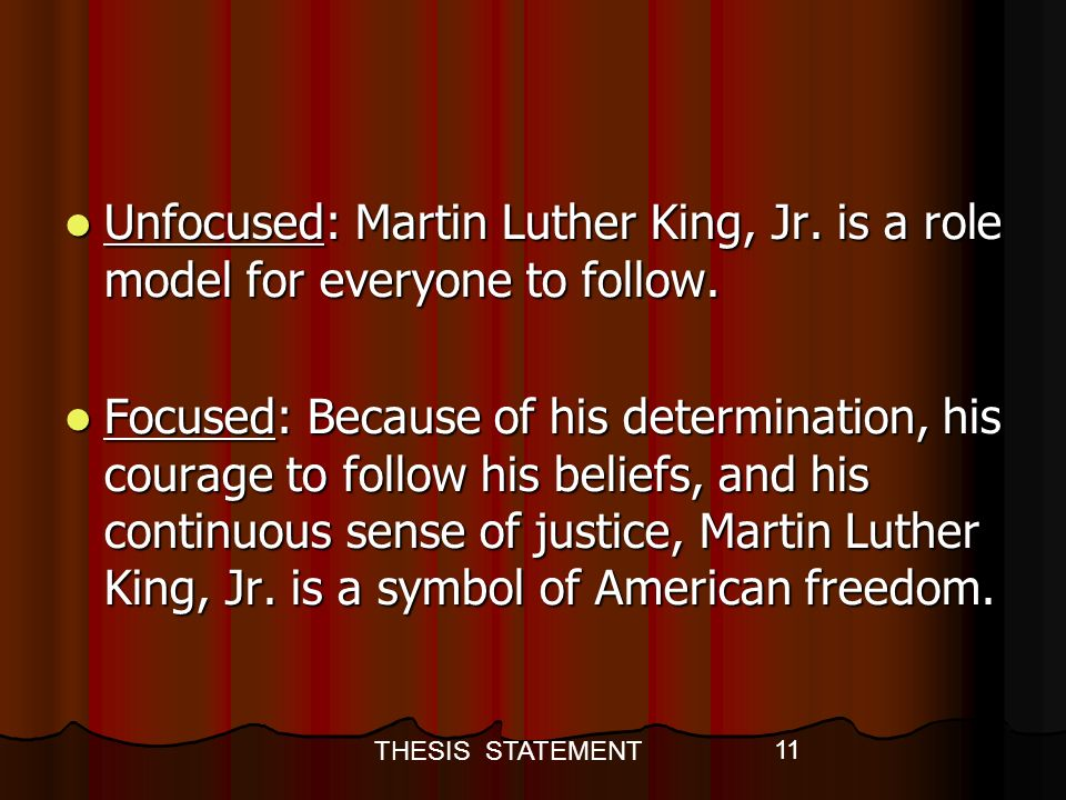 martin luther king role model essay Free download martin luther king jr role model essay dr martin luther king jr was not only a son, husband, father and minister.
