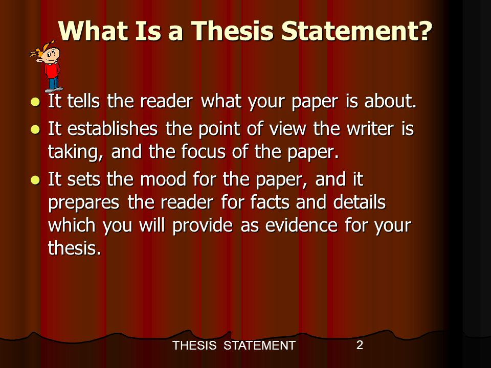 whats a thesis statment What is a thesis home english 102 syllabus (doc file) davis oldham foss 5355 206-546-4768 your final research paper must have a thesis it is not simply reporting.