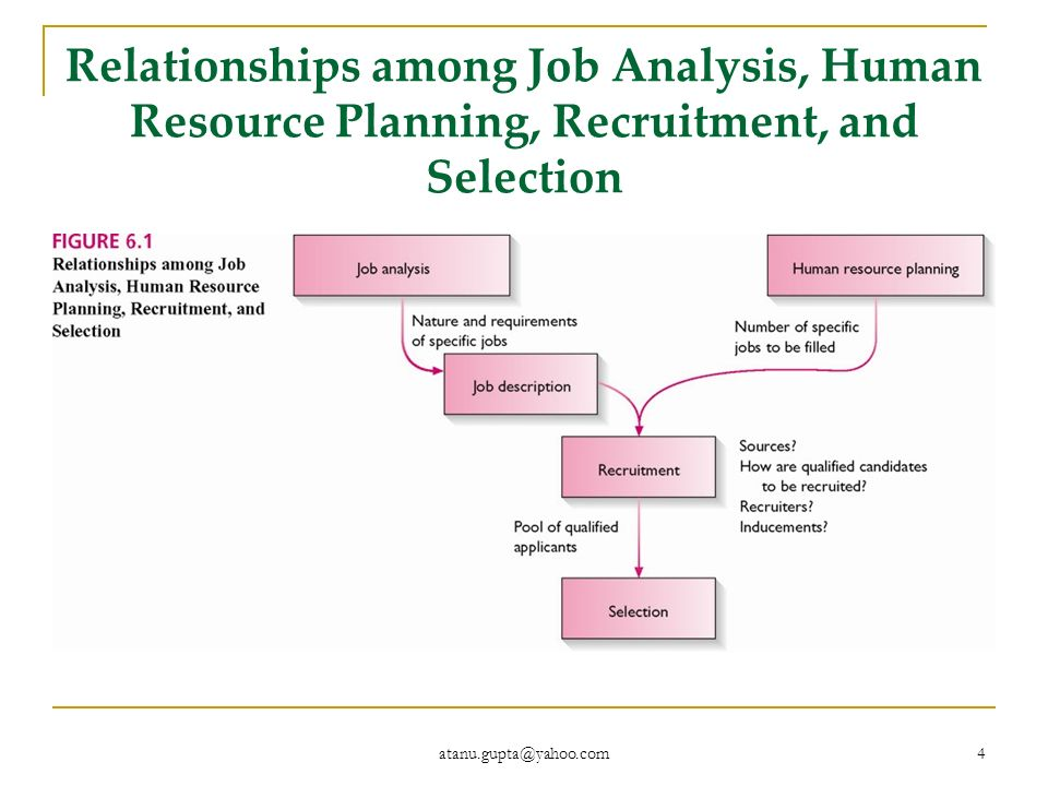 relationship among job analysis human resource planning recruitment and selection
