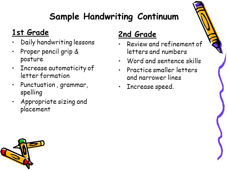 2nd grade writing samples