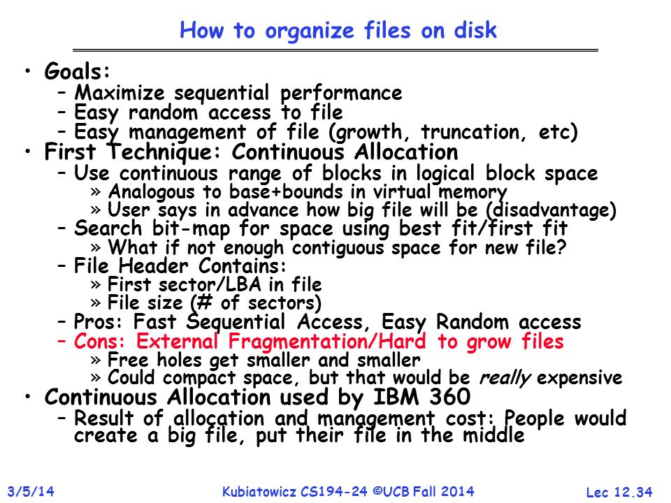 How to organize files on disk