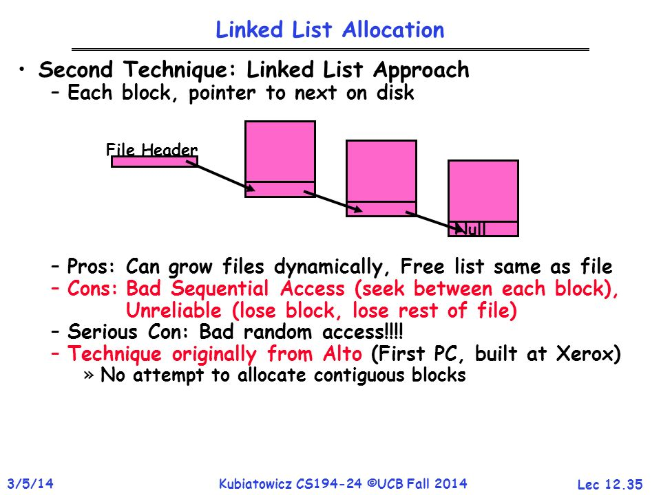 Linked List Allocation