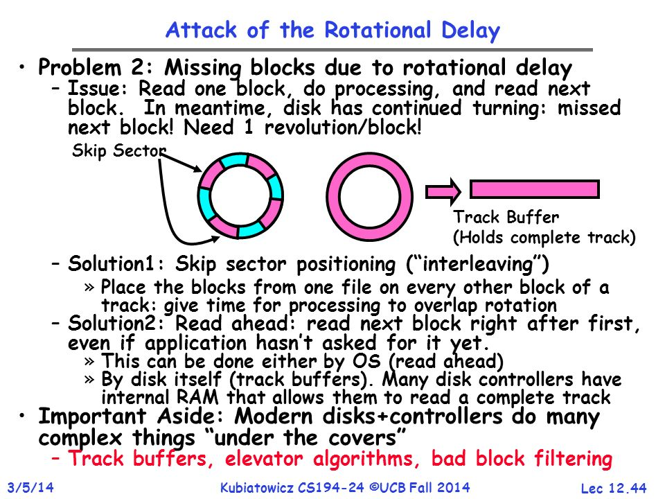 Attack of the Rotational Delay