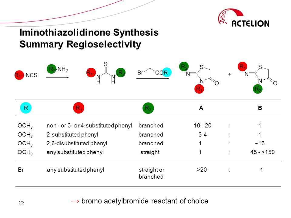 Iminothiazolidinone Synthesis Summary Regioselectivity