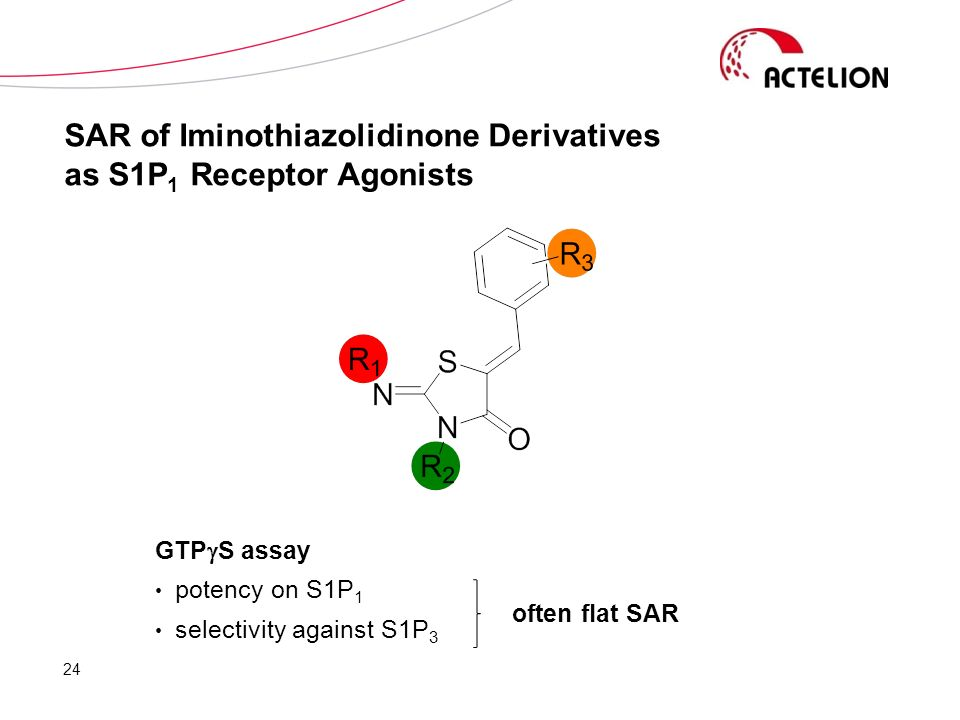 SAR of Iminothiazolidinone Derivatives as S1P1 Receptor Agonists