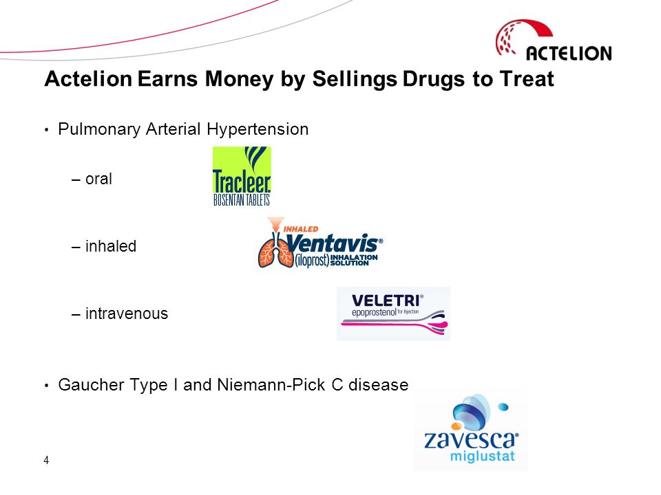 Actelion Earns Money by Sellings Drugs to Treat