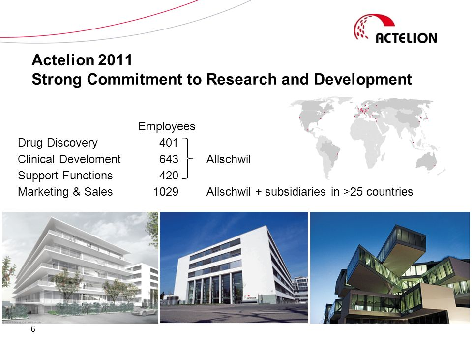 Actelion 2011 Strong Commitment to Research and Development