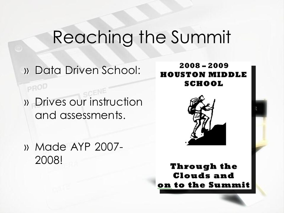 Reaching the Summit Data Driven School: