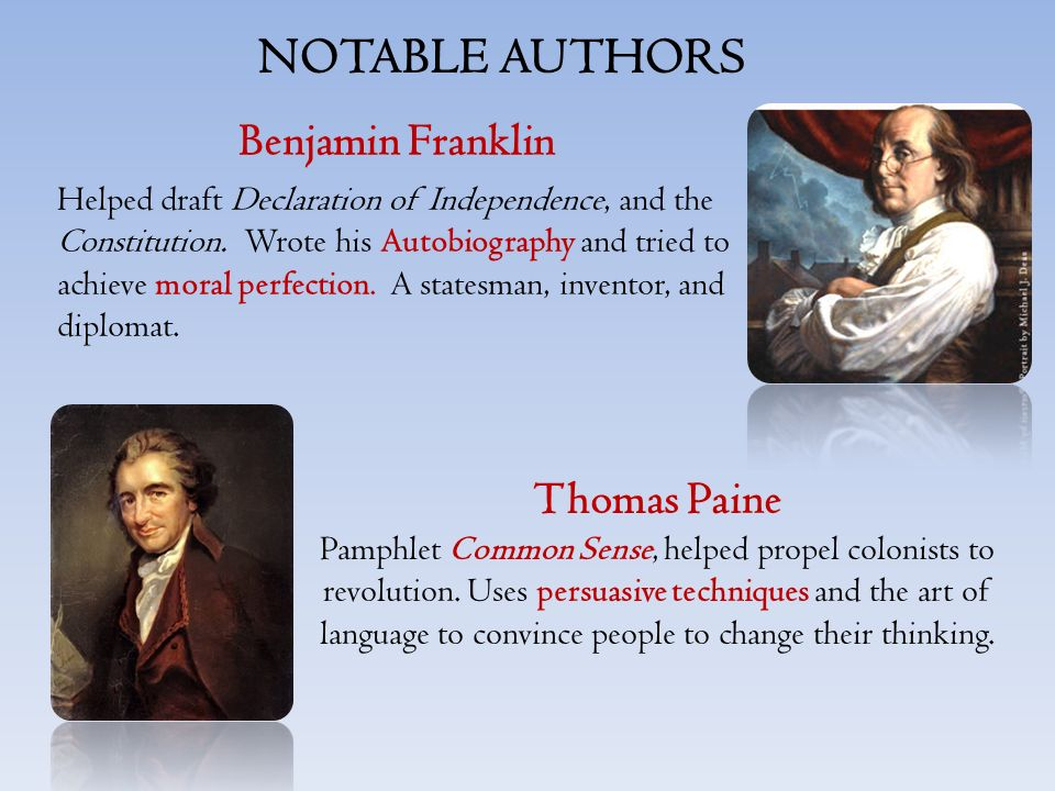 the persuasion to independence in thomas paines the common sense By reviewing paine's life and publications—especially common sense--during the early portion of the revolution, students will gain an appreciation for the essential role paine played in explaining the patriot position and moving public opinion in favor of independence.