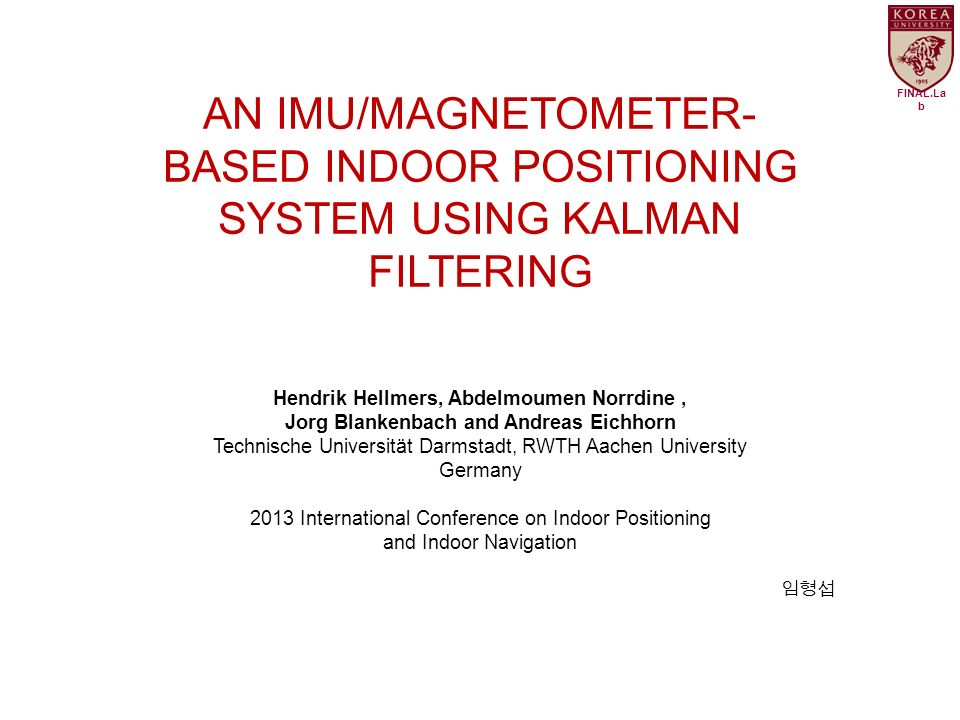 Hendrik hellmers abdelmoumen norrdine ppt video for Indoor navigation design