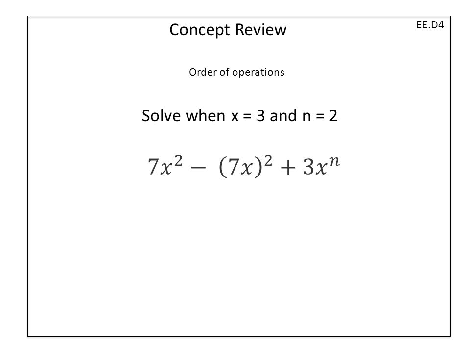 Ee Concept expressions and equations ppt