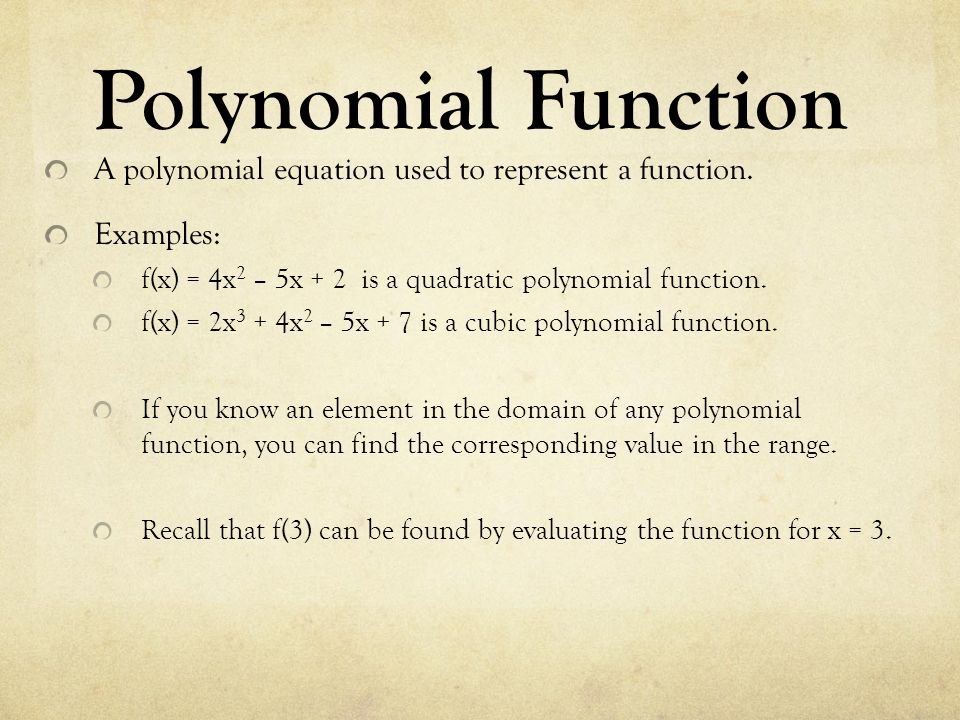 chapter 7 polynomial functions ppt video online download