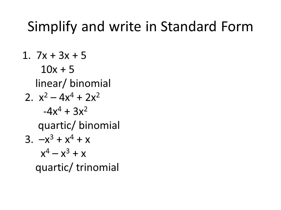Warm-up What is the standard form of a linear equation? - ppt ...