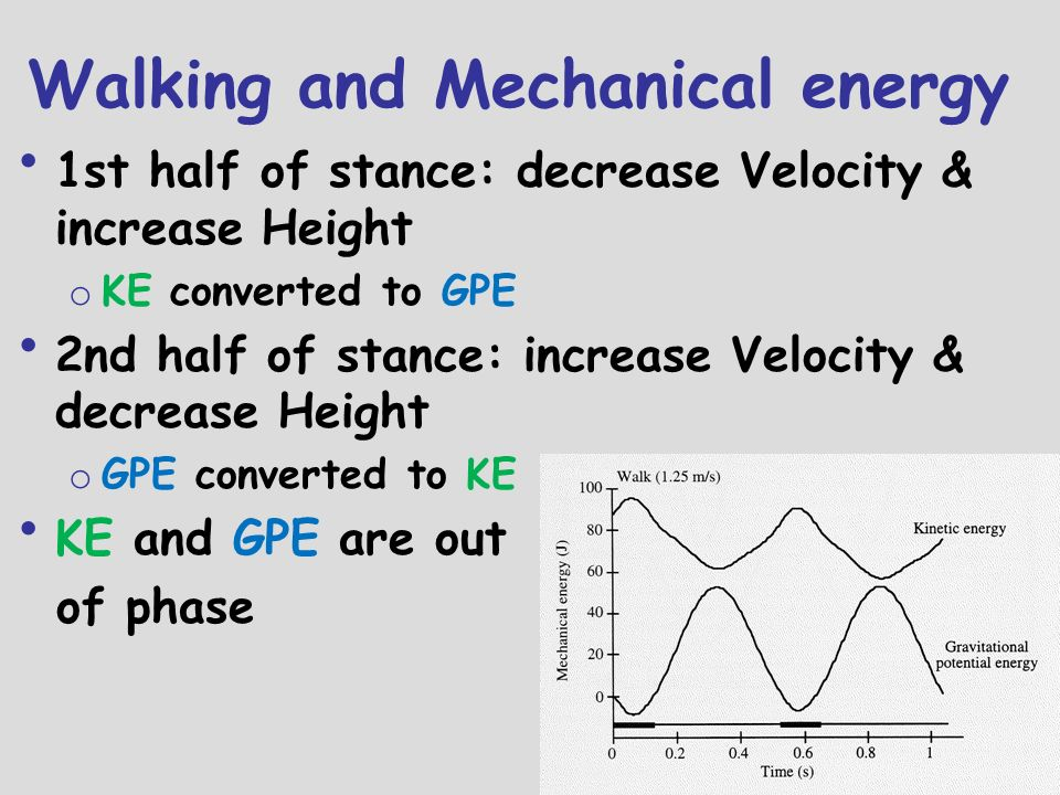 Walking and Mechanical energy