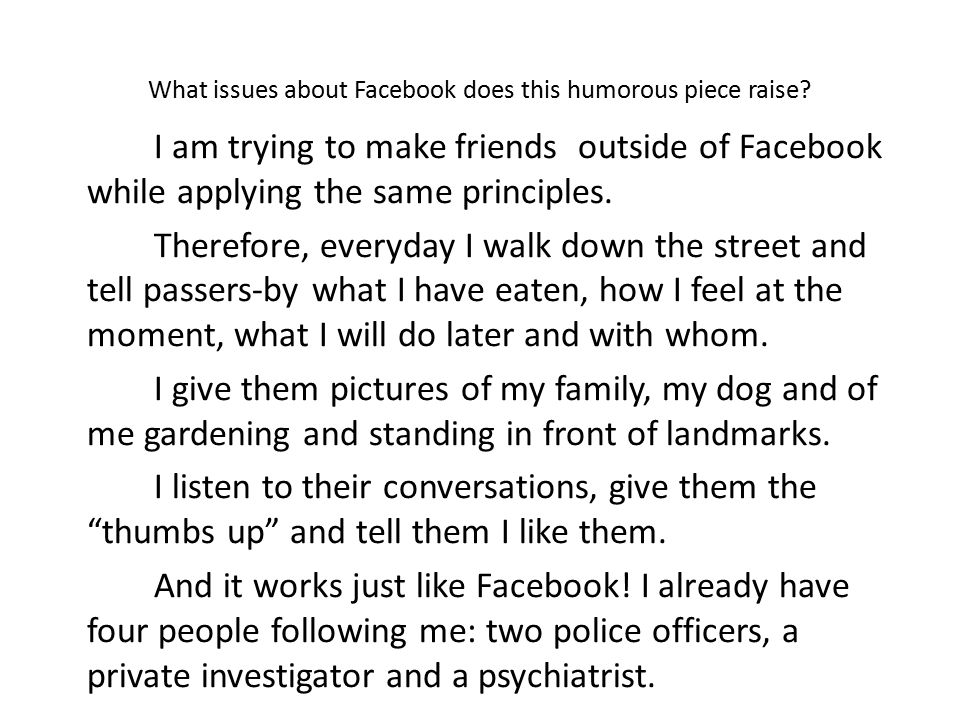 argumentative essay about facebook The five most important argumentative essay topics of 2018 meredith dobbs january 11, 2018 common core, essay writing, freebies, rhetoric, writing workshop, lists.
