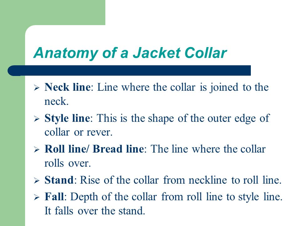 Definition, Anatomy of Shirt & Jacket collar, Types of ...