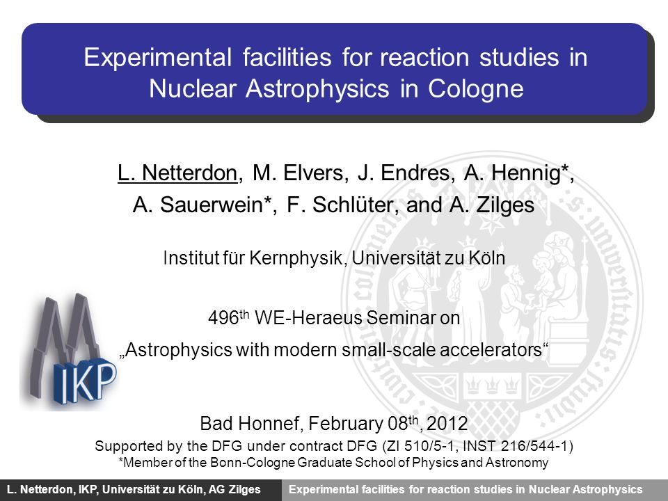 Experimental facilities for reaction studies in Nuclear Astrophysics in Cologne
