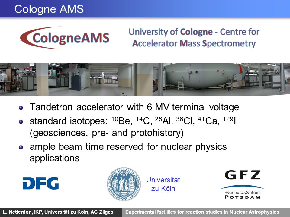 Cologne AMS Tandetron accelerator with 6 MV terminal voltage