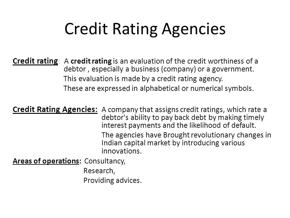 CREDIT RATING AGENCIES - ppt video online download
