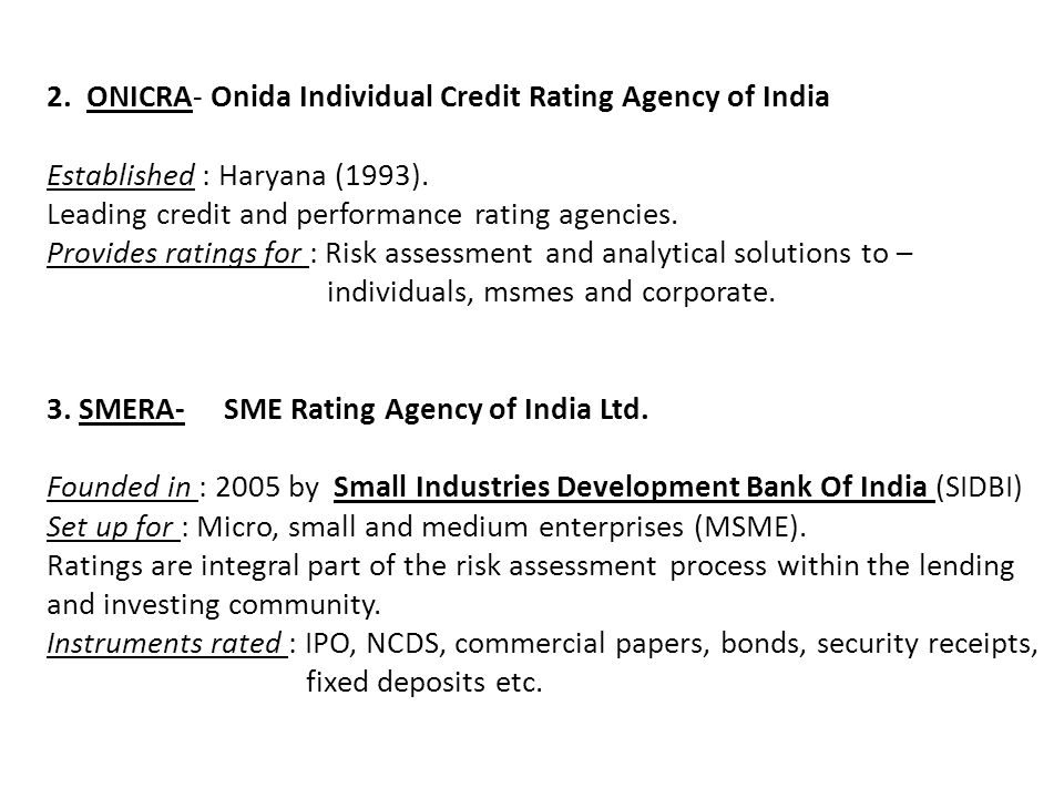 research paper credit rating agencies india This is a research/review paper, distributed under the terms of the creative commons credit rating in india: a study of rating methodology of rating agencies by kuljeet kaur, dr rajinder kaur quality manager, tanween co abstract - credit rating is the symbolic indicator of the current opinion of rating agencies.