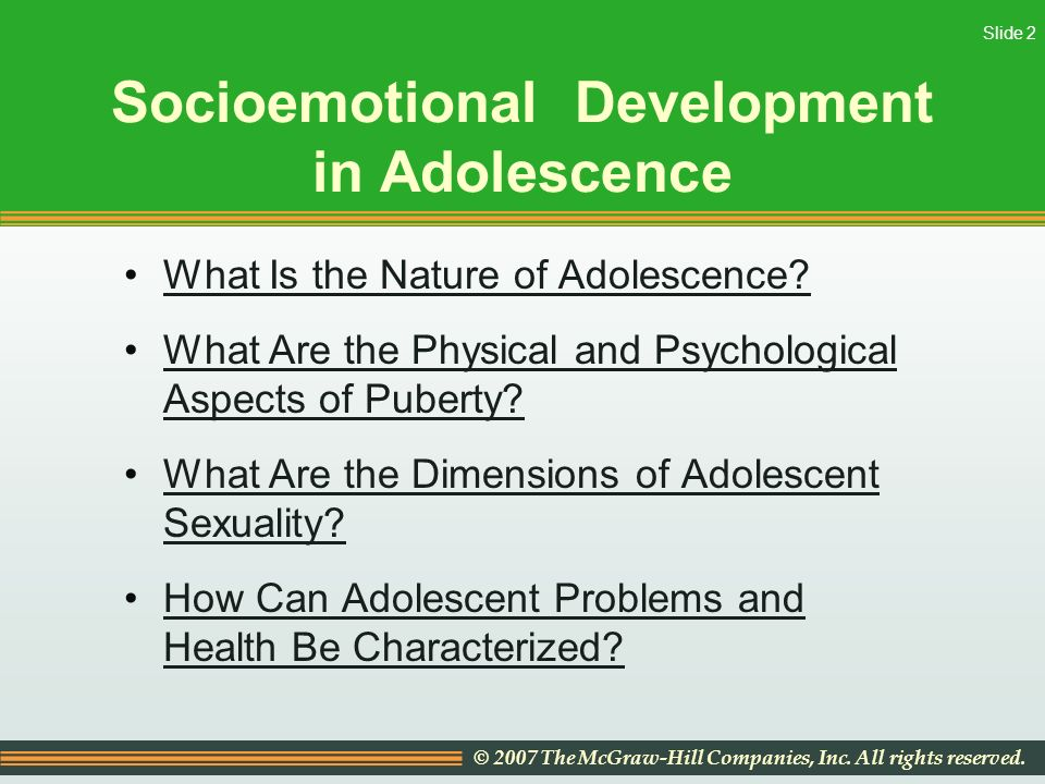 physical development of an adolescent