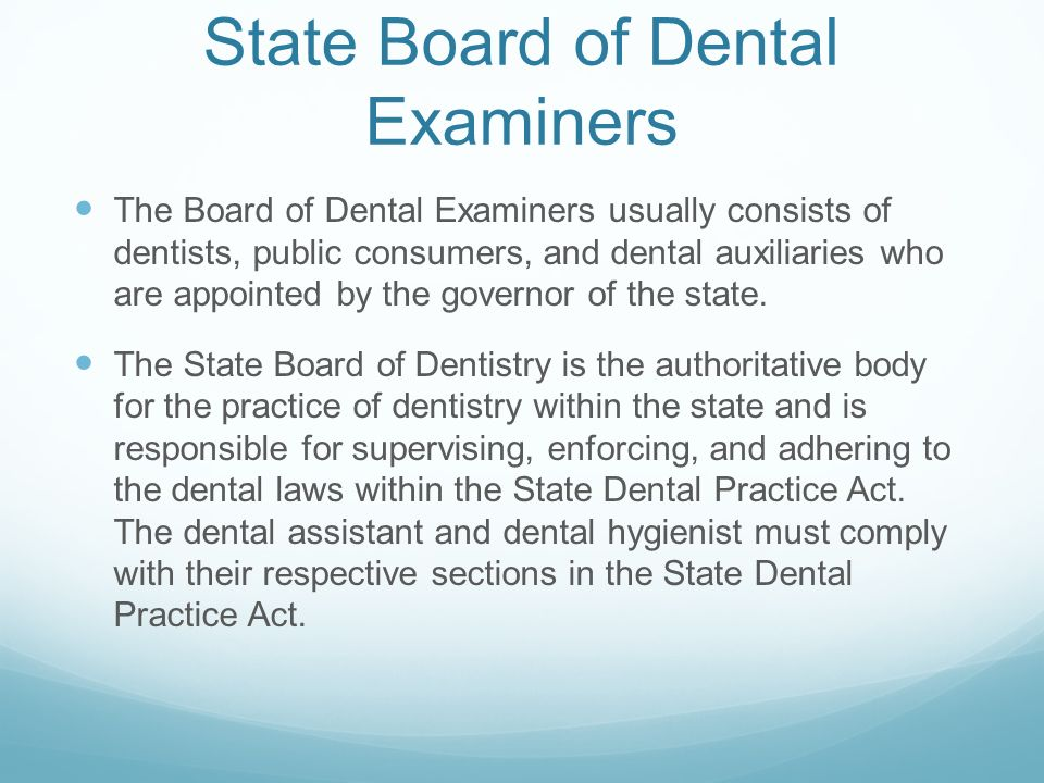 dental law dental practice act Laws, policies, & rules  please see title 43, chapters 1 and 11, for general provisions and dental law  health insurance portability and accountability act.