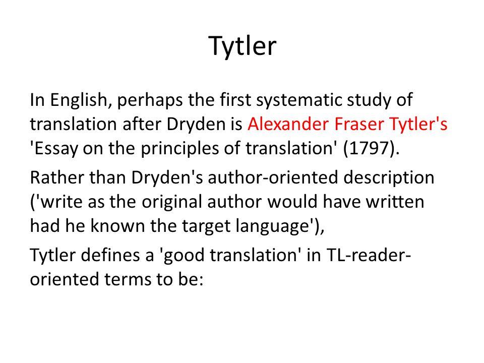 alexander fraser tytler essay on the principles of translation