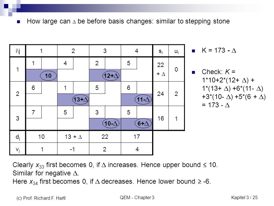How large can  be before basis changes: similar to stepping stone
