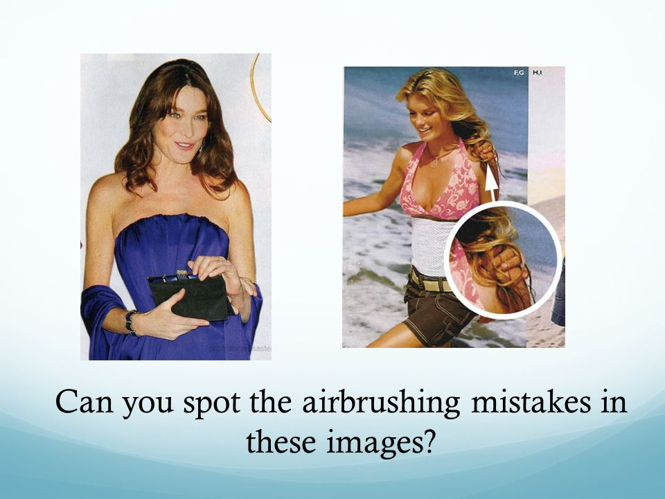 Can you spot the airbrushing mistakes in these images