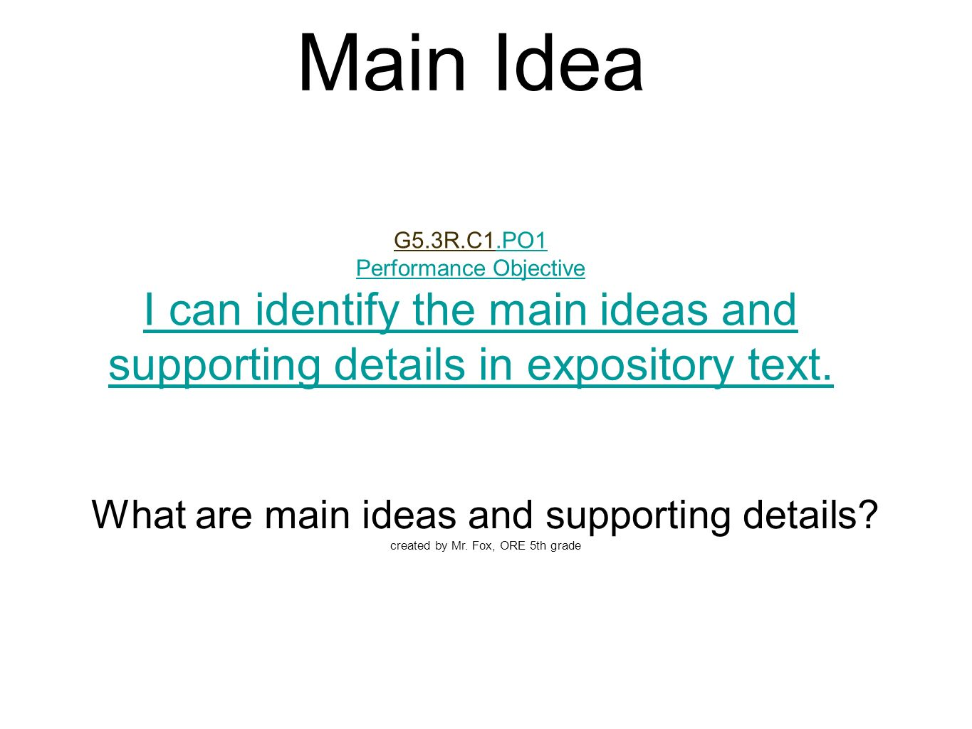 how to start supporting idea