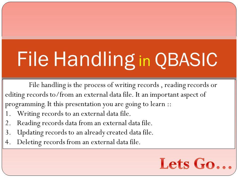 File Handling in QBASIC