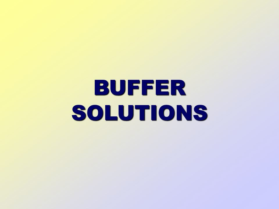 introduction to buffer solutions 1 theory 11 principle: a buffer solution is a solution that resists changes in ph either when diluted or when limited amounts of acid or base are added to it such a.