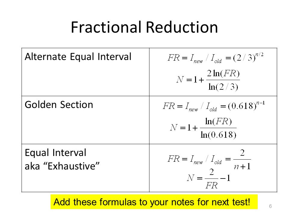 L24 numerical methods part 4 ppt download fractional reduction alternate equal interval golden section publicscrutiny Choice Image