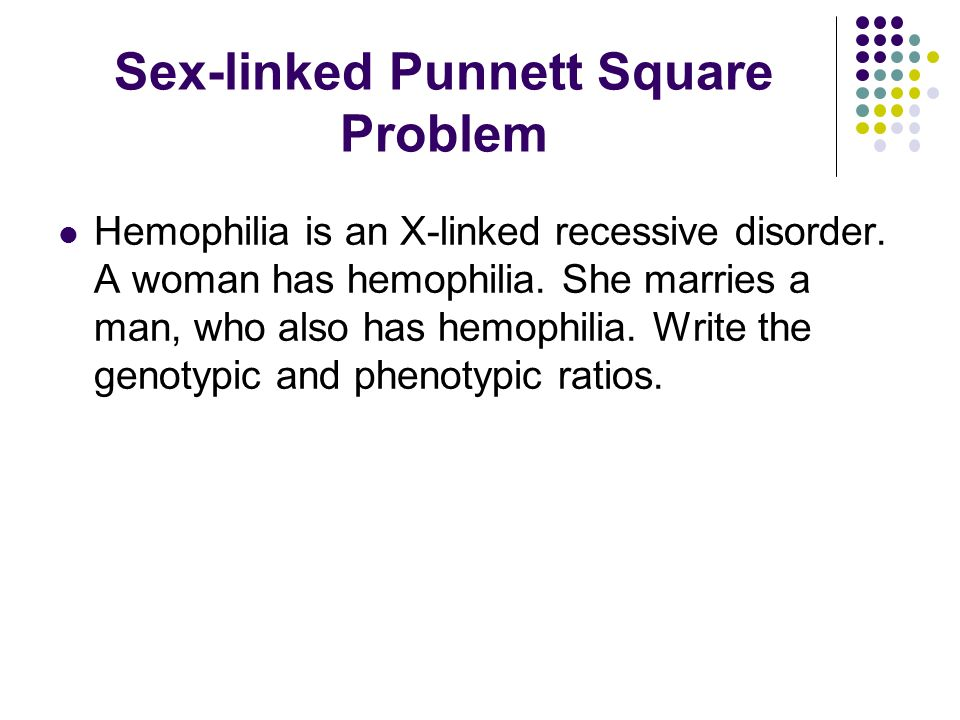 Hemophilia x chromosome inactivation disorder