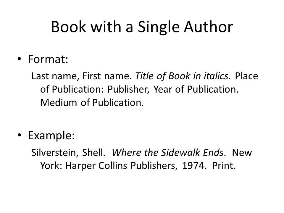 book bibliography