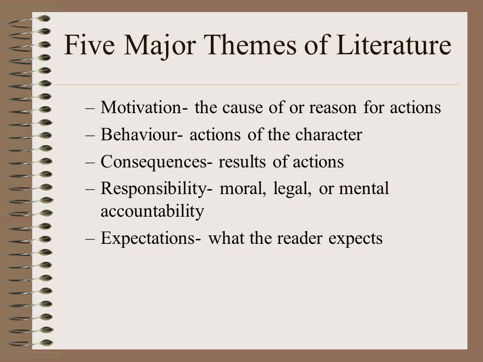 Five Major Themes of Literature