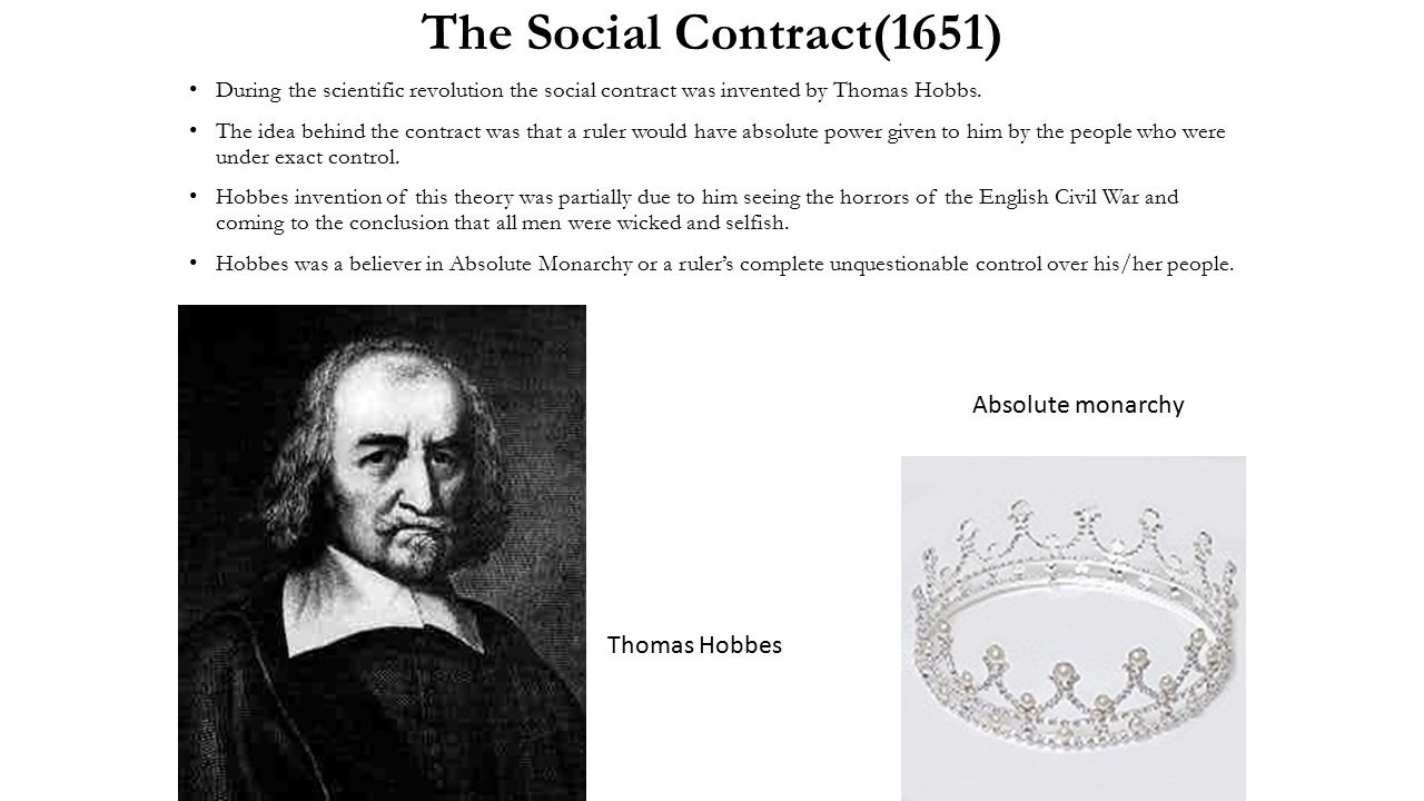 The idea of individuals right to freedom according to john locke and thomas hobbes