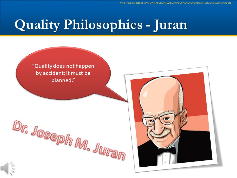 Quality Philosophies - Juran