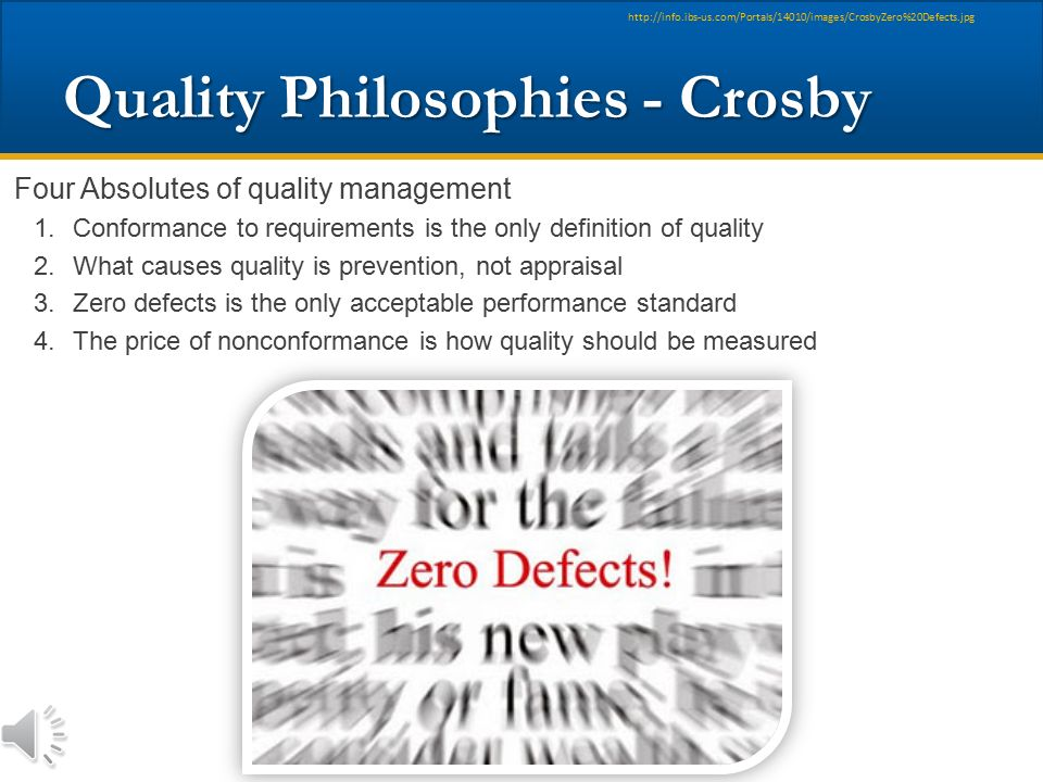 Quality Philosophies - Crosby