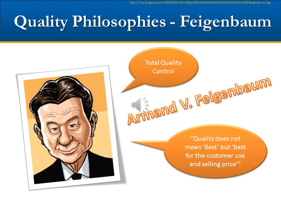 Quality Philosophies - Feigenbaum