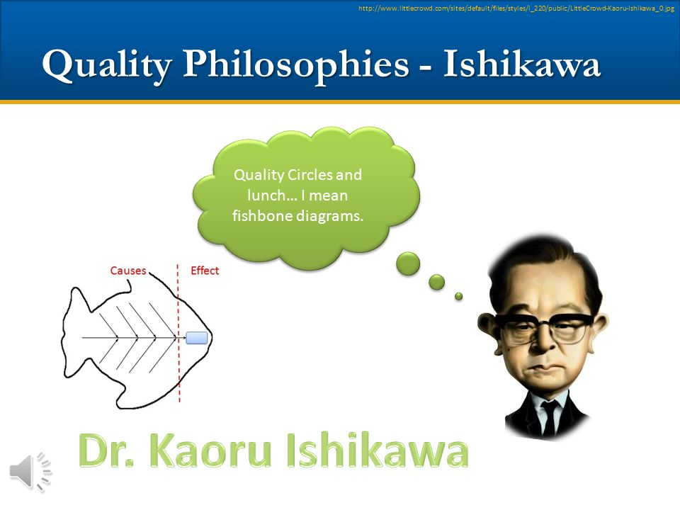 Quality Philosophies - Ishikawa