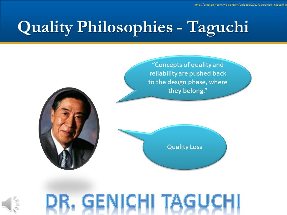 Quality Philosophies - Taguchi
