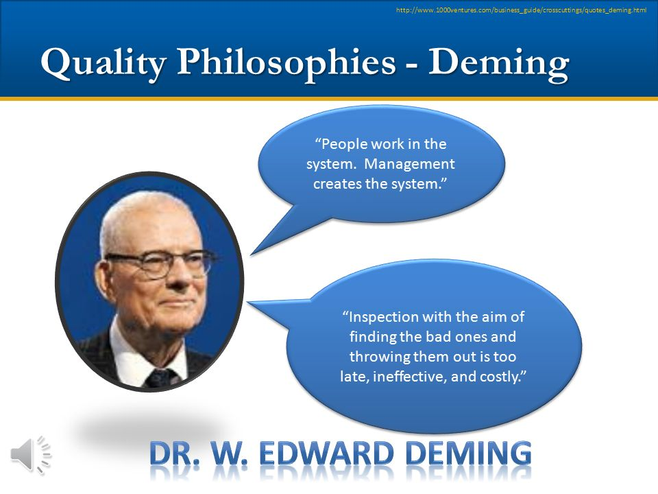 Quality Philosophies - Deming