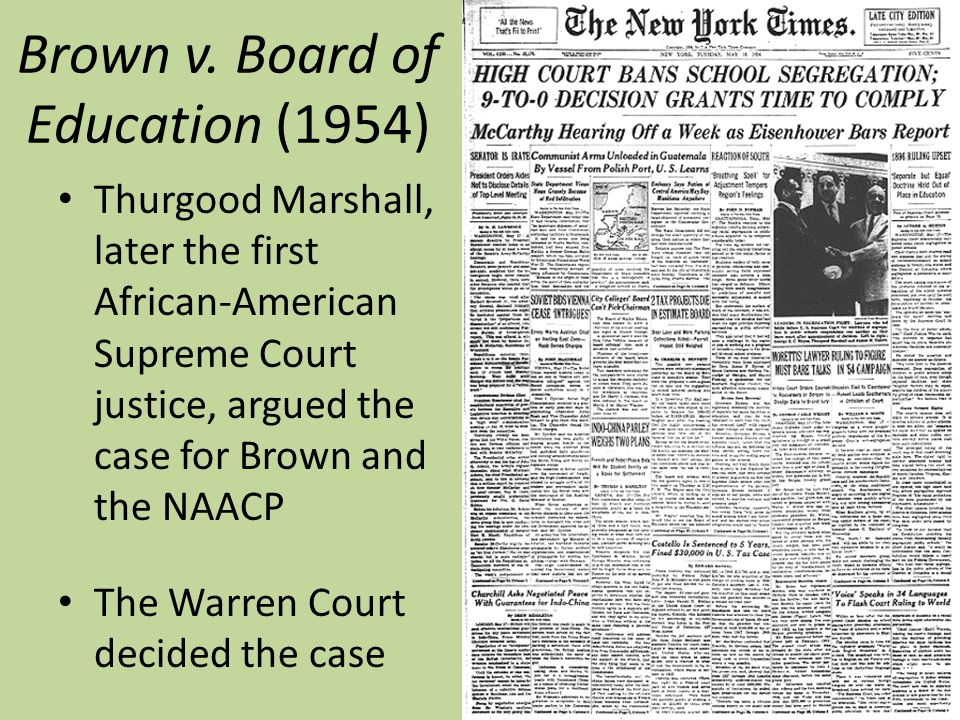 An analysis of the case of brown v the board of education