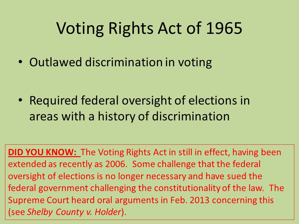 voting discrimination 3 last updated: july 17, 2015 for questions, contact jordyn bussey at bussey@civilrightsorg recent examples: voting rights discrimination fullerton, california (2015.